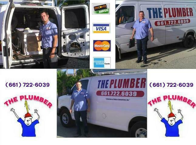 Call THE PLUMBER Lancaster, CA at (661) 722-6039